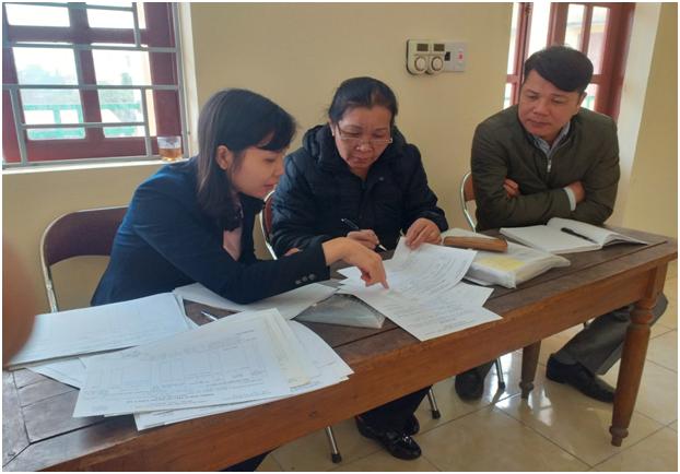 Hình ảnh: Đoàn kiểm tra làm việc tại xã Bắc Sơn