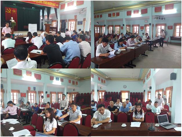 Quang cảnh lớp tập huấn tại xã Lê Thiện ngày 29/3/2019