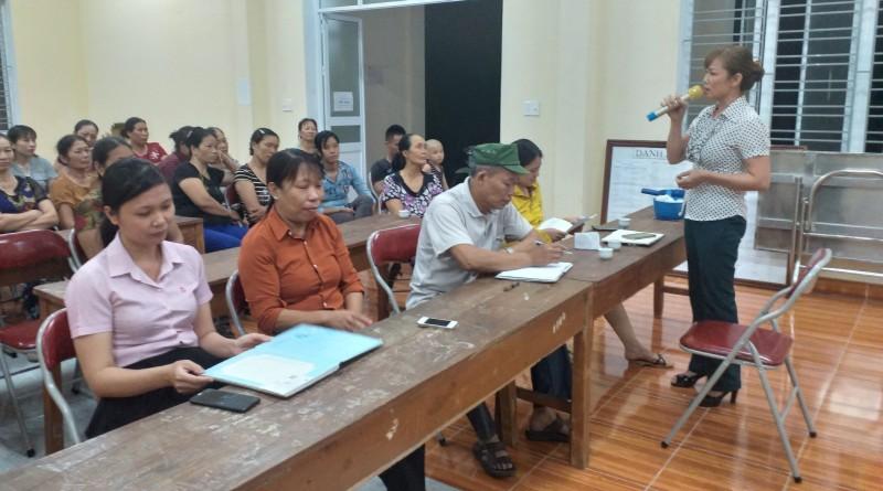 Huyện An Dương tăng cường giám sát và nâng cao chất lượng các buổi họp sinh hoạt tổ tiết kiệm và vay vốn