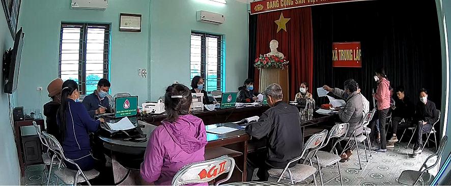 Giao dịch tại xã Trung Lập huyện Vĩnh Bảo đảm bảo an toàn phòng chống dịch