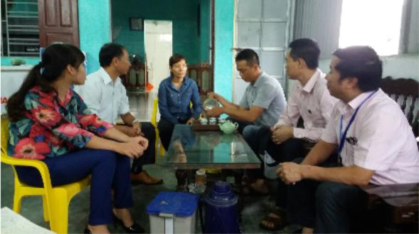 Đoàn công tác tìm hiểu thực tế việc sử dụng đồng vốn chính sách của hộ anh Nguyễn Bá Hoàng